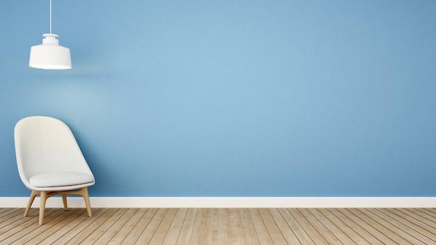 Tom azul da área de vida em apartment.jpg