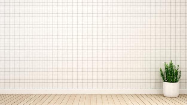 Tom branco de sala vazia para obras de arte - renderização em 3d