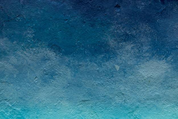 Tom de cor azul abstrato pintado fundo de textura de parede ao ar livre