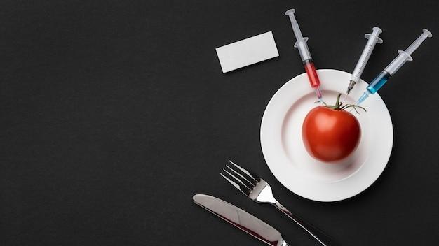 Tomates deliciosos alimentos modificados por gm