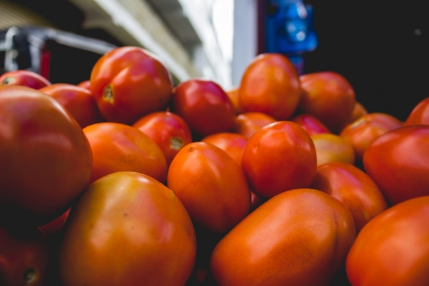 Tomates empilhados