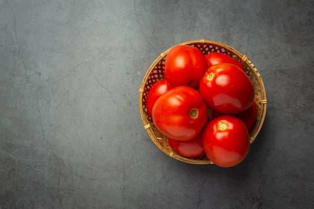 Tomates frescos prontos para cozinhar