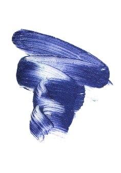 Tonalidade clássica de azul - cor do ano 2020. textura brilhante de batom.