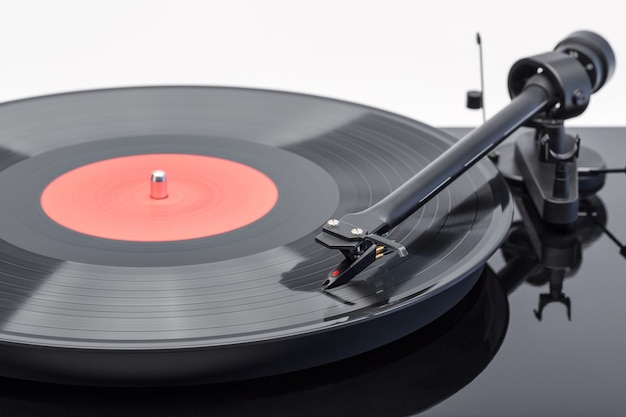 Tonearm com cartucho de gira-discos com disco