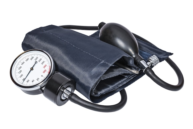 Tonômetro médico em fundo branco equipamentos e ferramentas médicas
