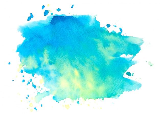 Tons de aquarela mancha azul pintar o fundo do traçado