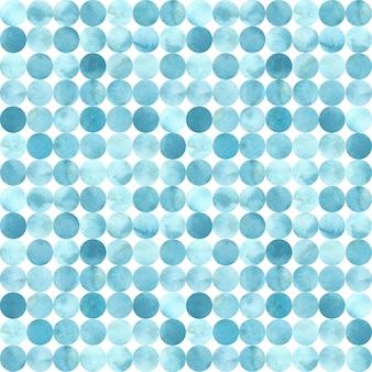 Tons de azul, azulejo círculo aleatório, padrão sem emenda. ilustração em aquarela.