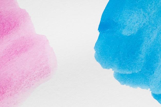 Tons pastel de rosa pálido e azuis fortes