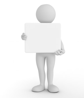 Toon mostrando um cartaz em branco