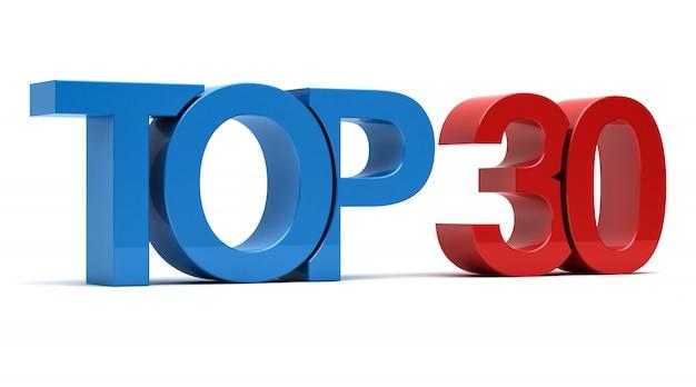 Top 30 texto 3d