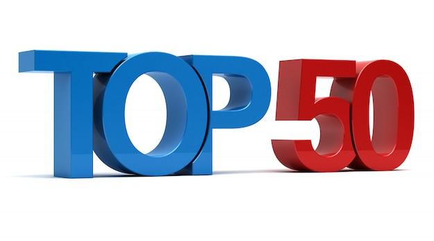 Top 50 texto 3d