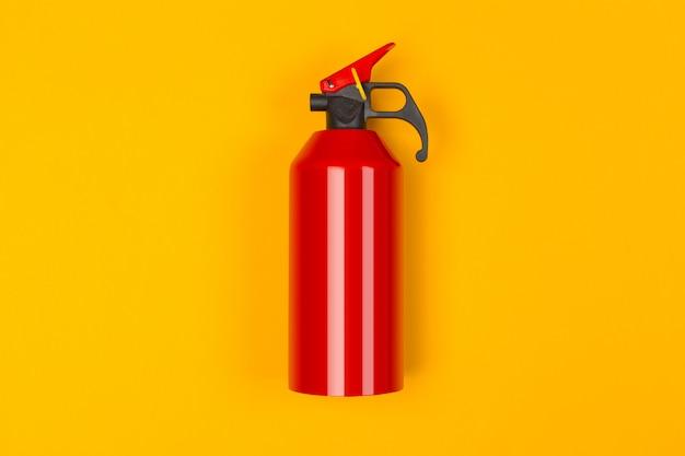Topo, de, vermelho, extintor fogo