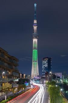 Tóquio, japão, paisagem urbana com o skytree.