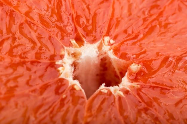 Toranja fresca suculenta polpa vermelha suave