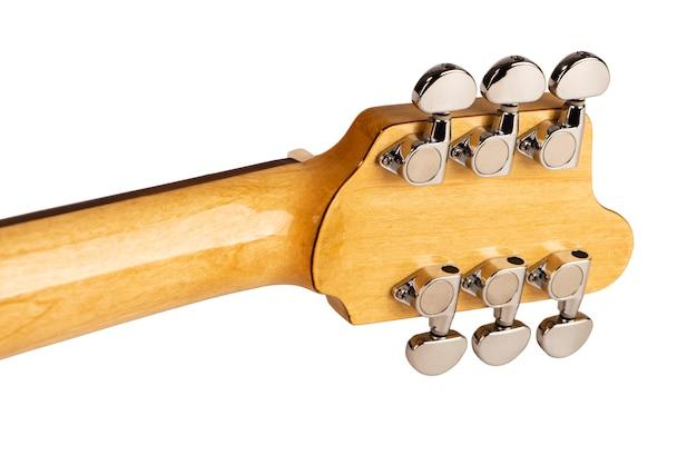 Torneiras e pescoço de uma guitarra elétrica