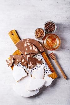 Torrão de doces espanhóis tradicionais