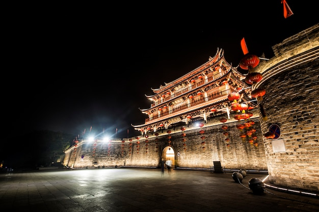 Torre da cidade antiga da cidade de chaozhou, província de guangdong, china torre de guangji
