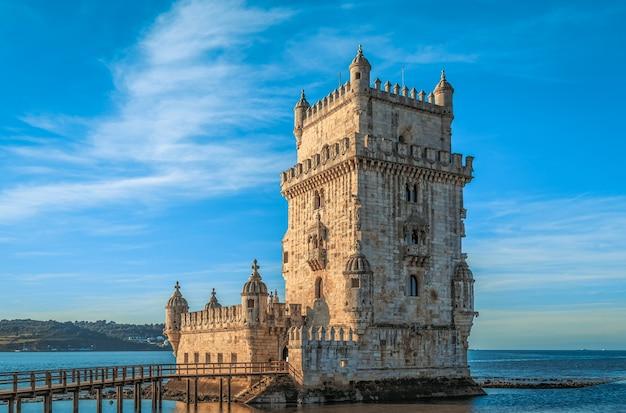 Torre de belém (torre de belem), lisboa, portugal.
