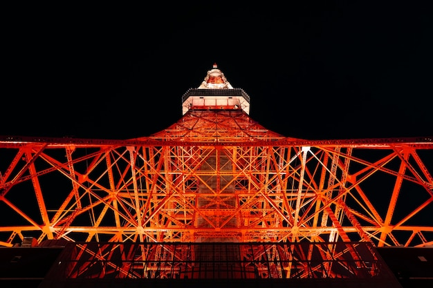 Torre de tóquio à noite