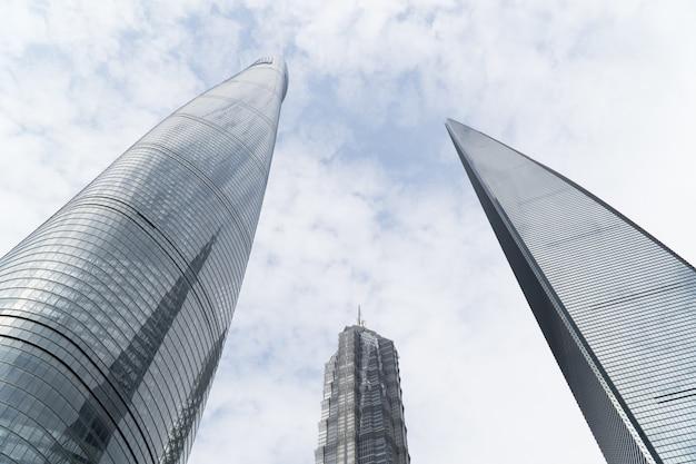 Torre de xangai, jin mao e centro financeiro mundial de xangai
