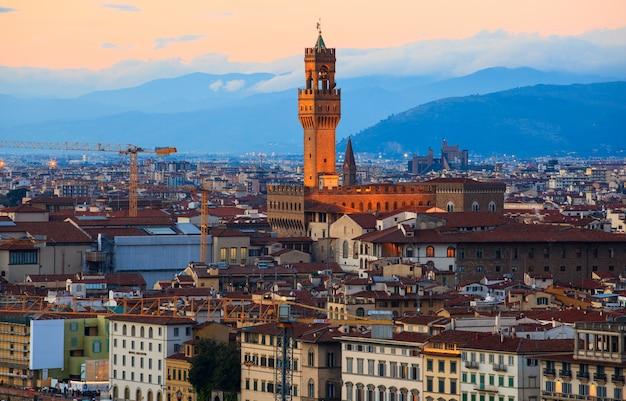 Torre do palazzo vecchio em florença
