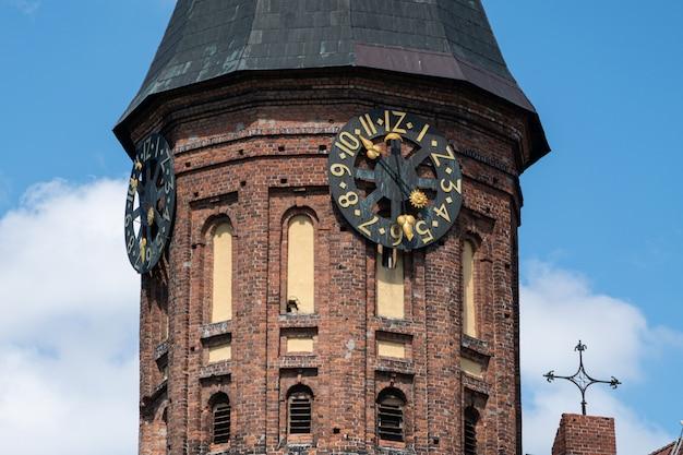 Torre do relógio da catedral de konigsberg