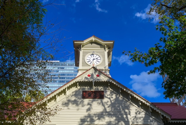 Torre do relógio / sapporo city hokkaido, japão