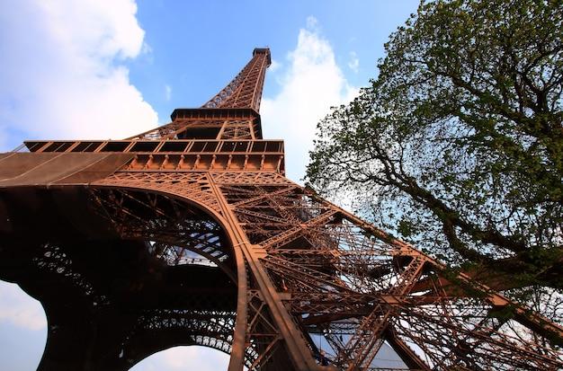 Torre eiffel com céu azul