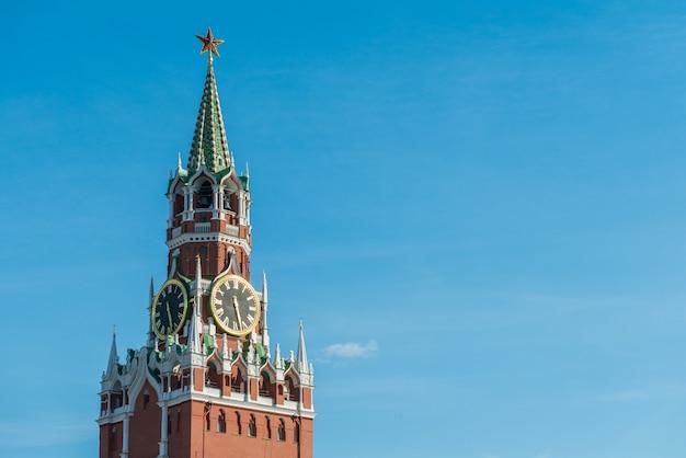 Torre kremlin spasskaya de moscou