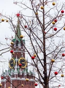 Torre spasskaya na praça vermelha
