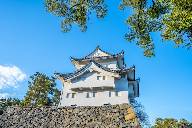 Torre sudoeste do castelo de nagoya em nagoya, japão