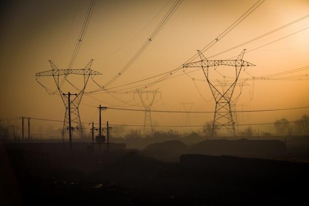 Torres de energia paisagem
