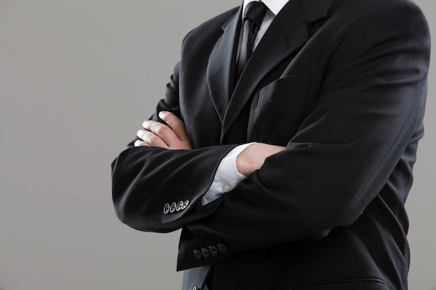 Torso do empresário em terno