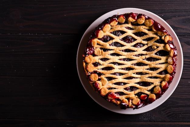 Torta caseira de cereja
