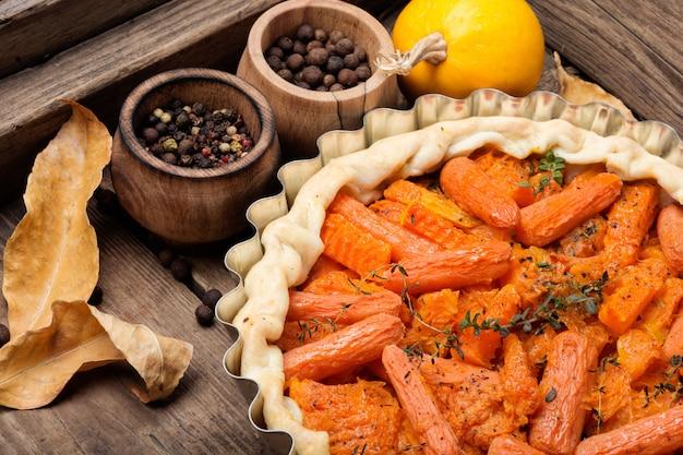 Torta com cenoura e abóbora
