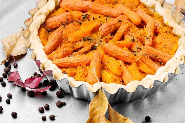 Torta com cenoura