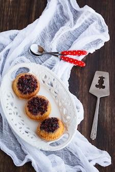 Torta com cranberries