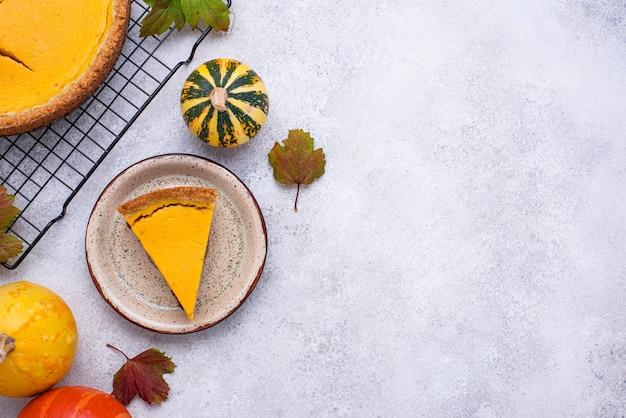 Torta de abóbora americana. sobremesa doce de outono tradicional