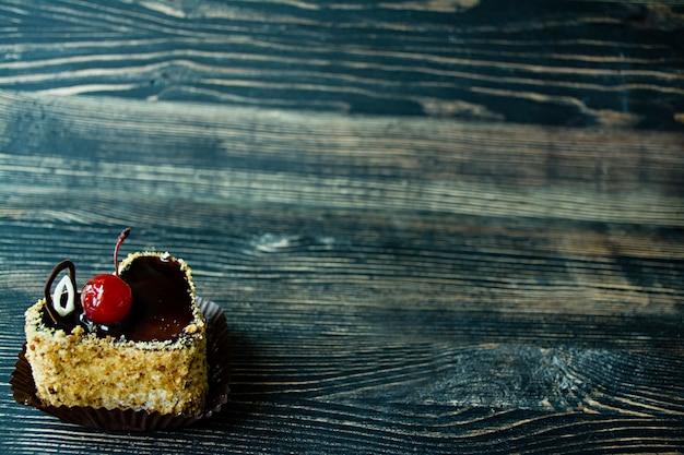 Torta de biscoito saboroso