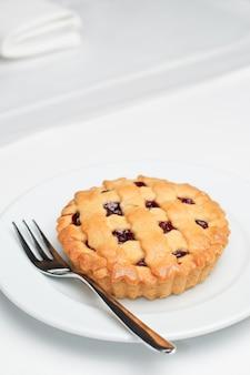 Torta de cereja pequena