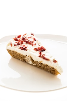 Torta de cranberries ou bolo em chapa branca