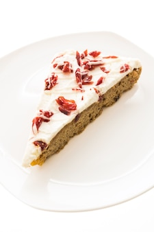 Torta de framboesa cranberries fundo gourmet