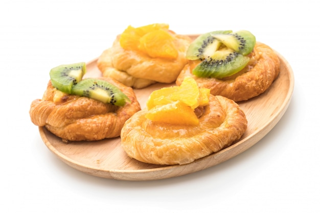 Torta de laranja e kiwi