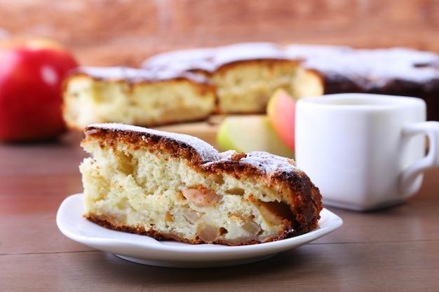 Torta de maçã caseira americana clássica.