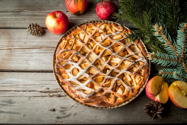 Torta de maçã de natal