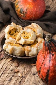 Torta de outono com abóbora