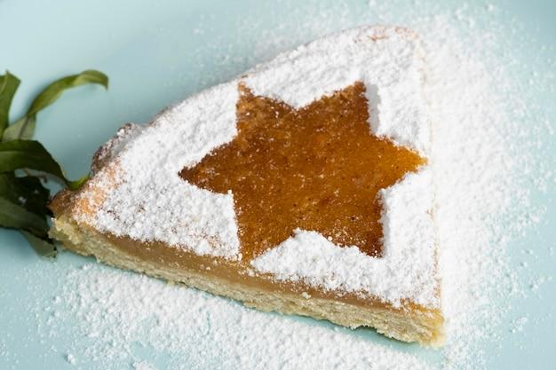 Torta deliciosa tradicional hanukkah conceito judaico
