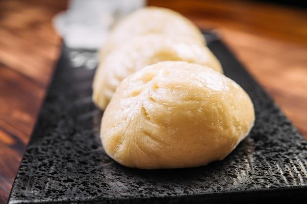 Tortas coreanas de pjan-se pigodi no vapor