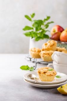 Tortas de maçã caseiras