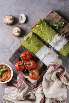 Tortilha de espinafre verde
